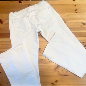 JOES JEANS White Flare Distressed Jeans